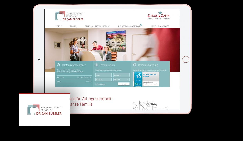 Design iPad Mockup und Visitenkarte