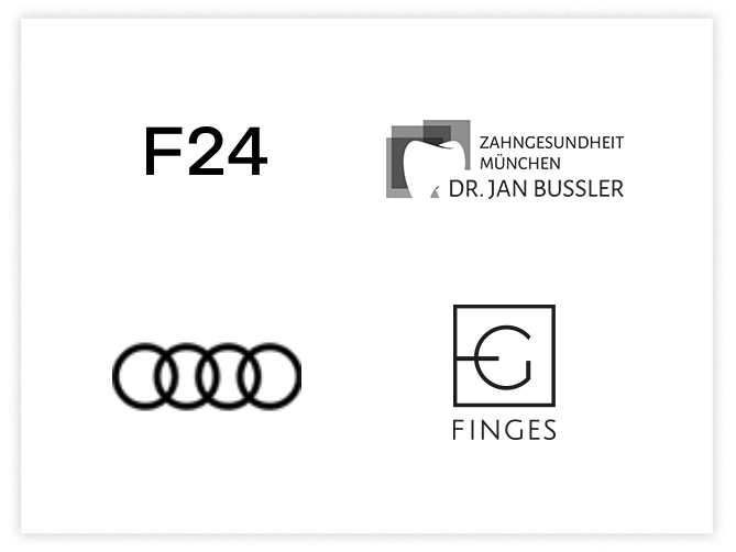 Referenzen vier Logos VI, F24, Doktor Bussler, Finges